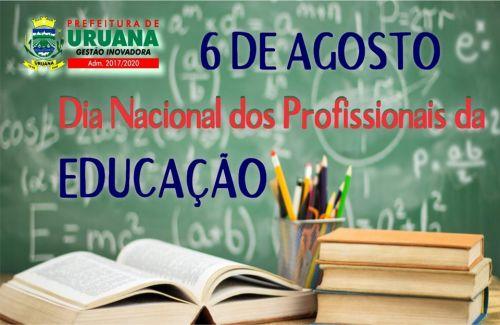 Parabéns aos profissionais da educação pelo seu dia!