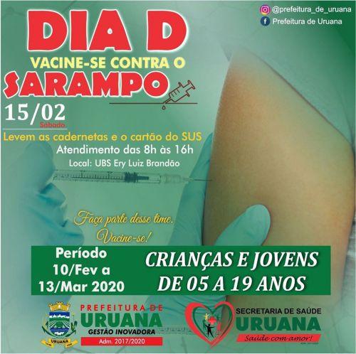 DIA D Vacine-se Contra o Sarampo