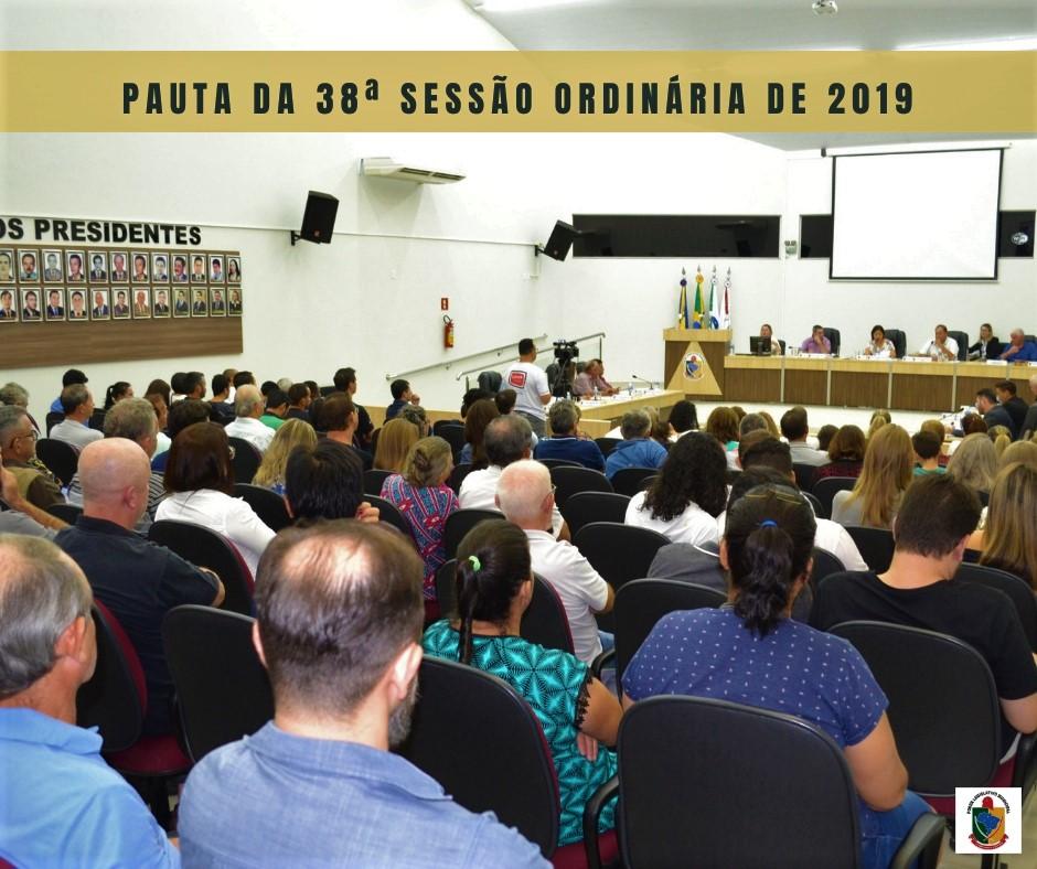 ÚLTIMA SESSÃO DO ANO TERÁ VOTAÇÃO PARA ESCOLHA DA MESA DIRETIVA 2020