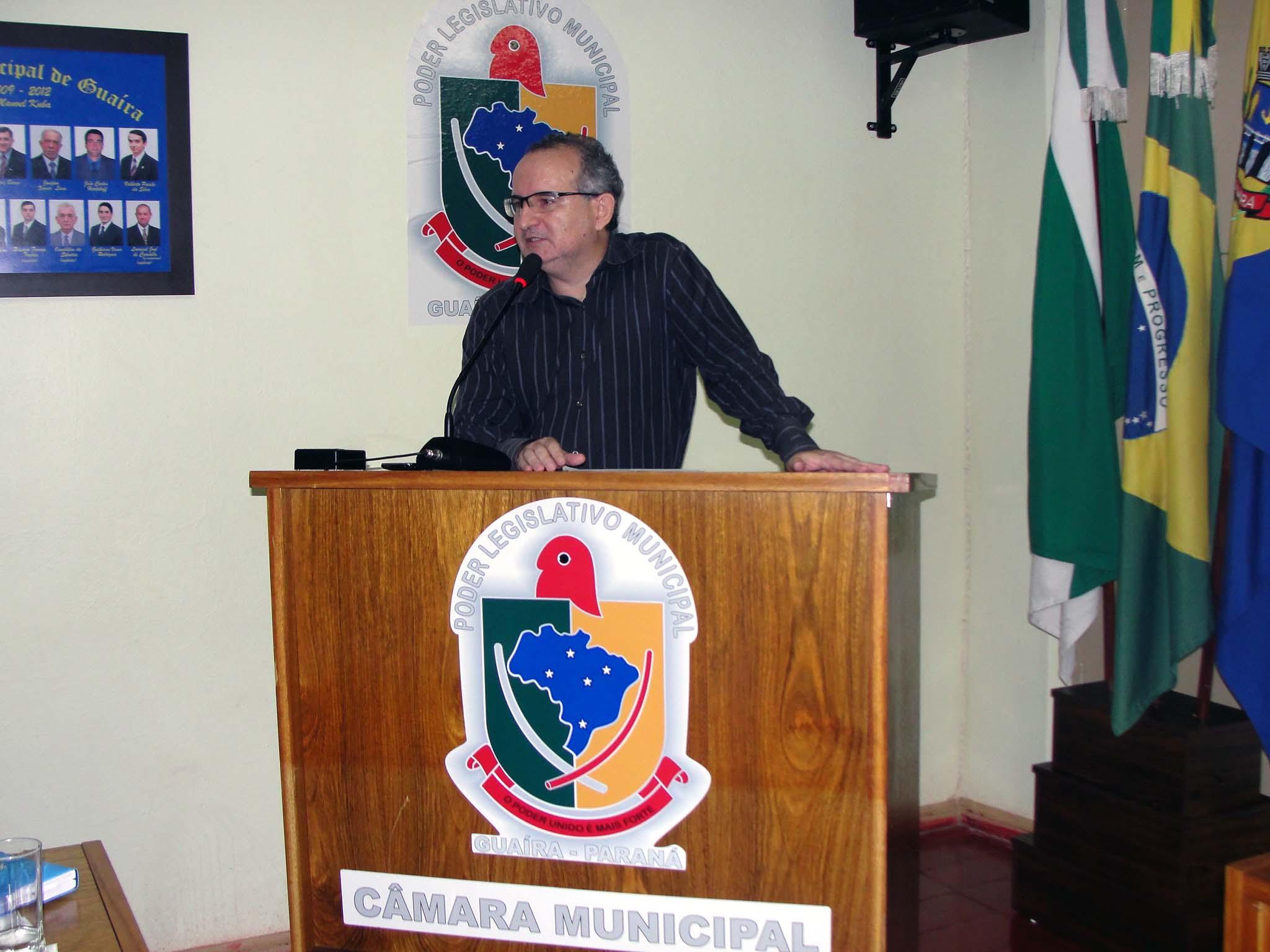 Prefeito Fabian Vendrusculo deseja sucesso aos legisladores na reunião da Câmara