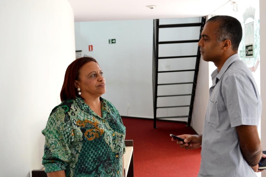 Vereadora Tereza em entrevista ao Jornal Gazeta de Toledo
