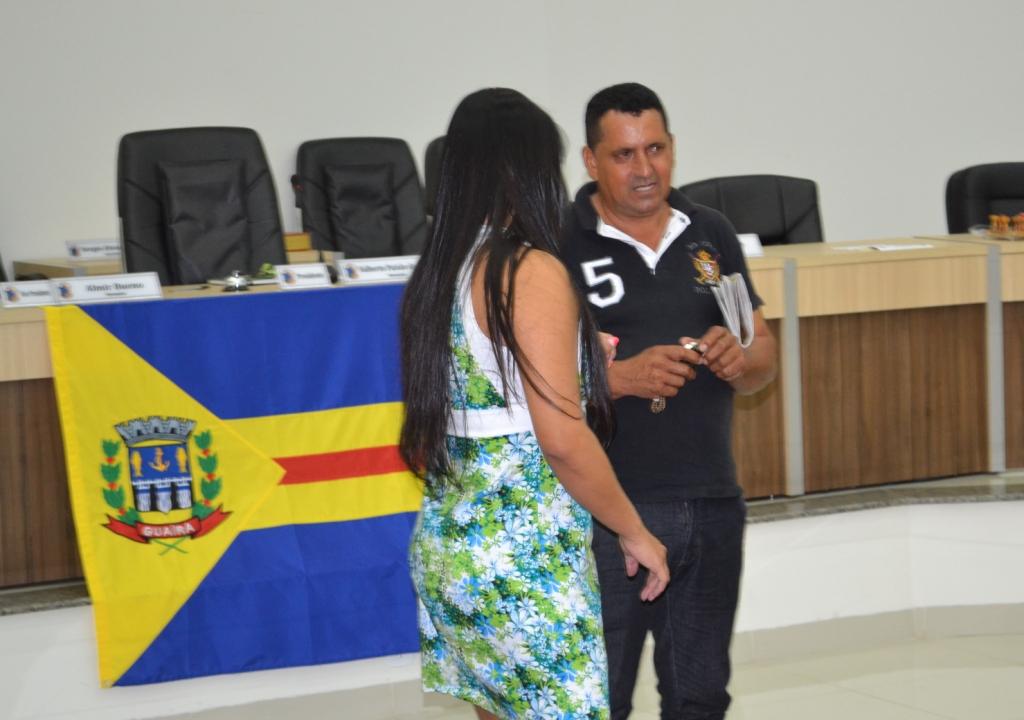 Vereadora Mirian e Vereador Simião