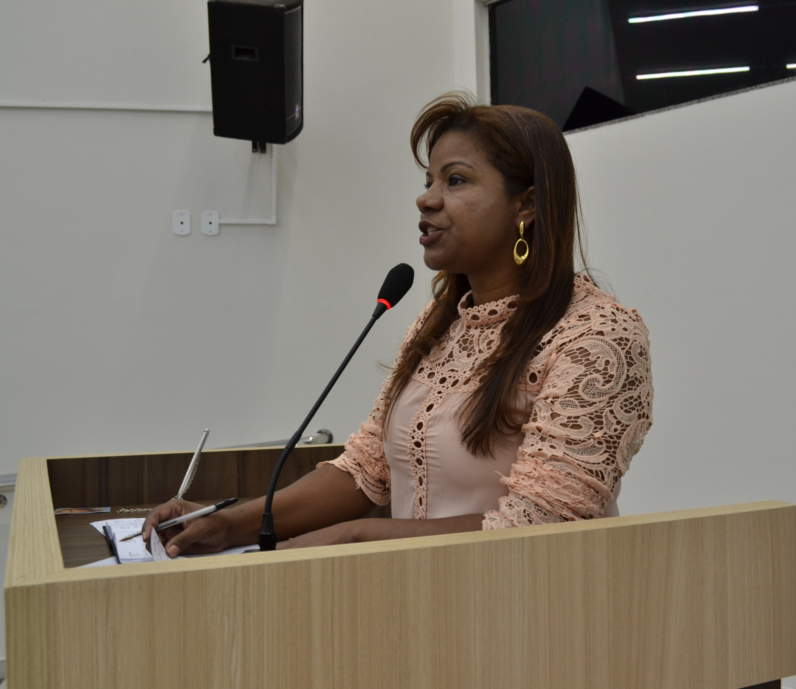 Vereadora Marlene Dallacosta pediu pela conservação das estradas rurais