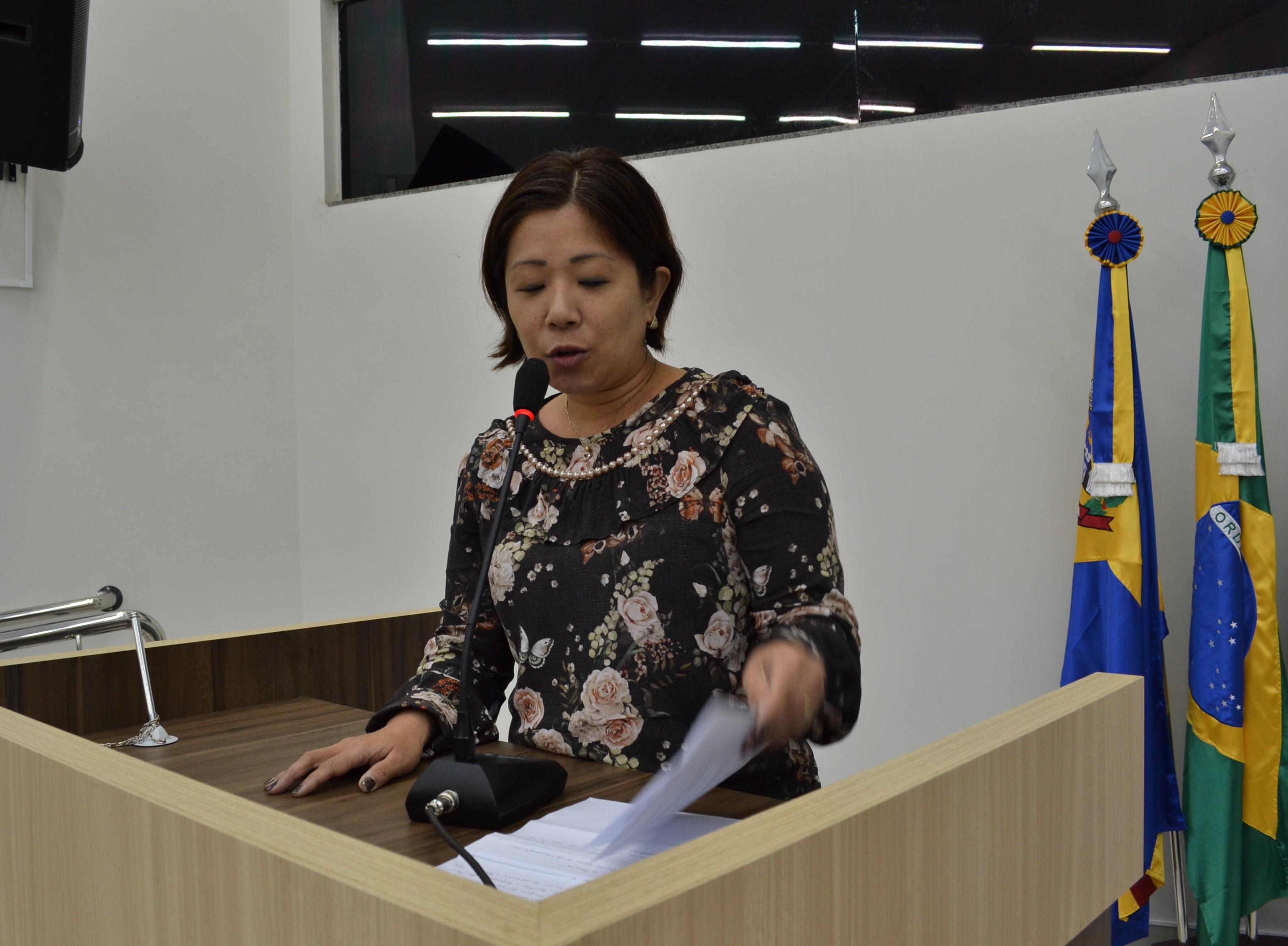 Vereadora Lumi Suga defende a prevenção de acidentes em escolas