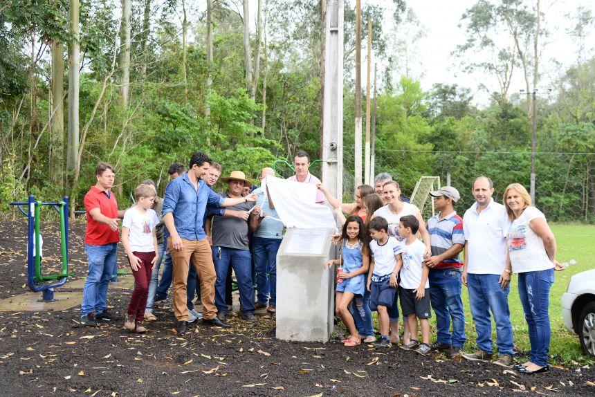 Inauguração da Academia ao ar livre da comunidade da linha Gaúcha