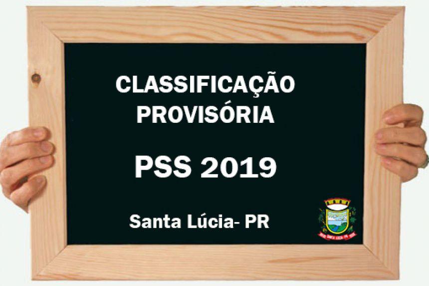 Classificação Provisória do PSS 2019!