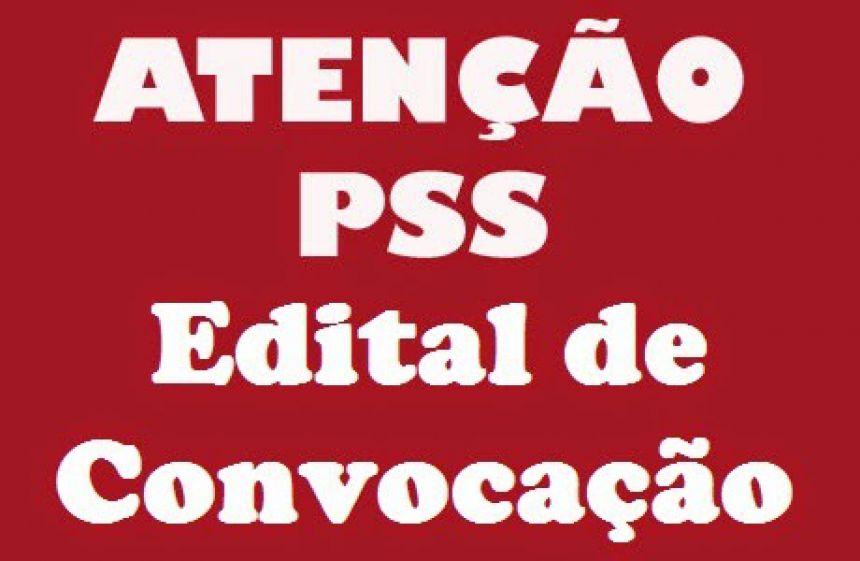 Edital de Convocação Pss 001/2018