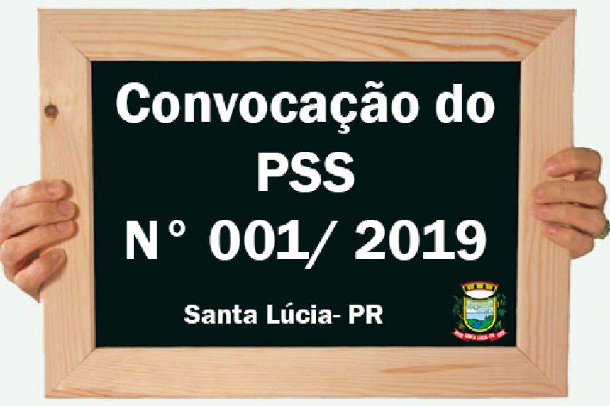 Convocação do PSS N° 001/2019