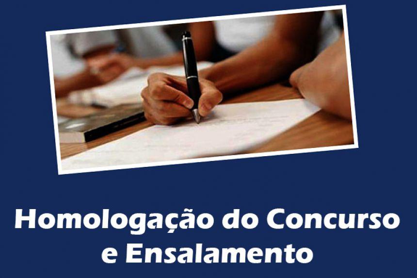 Homologação do Concurso Municipal e Ensalamento