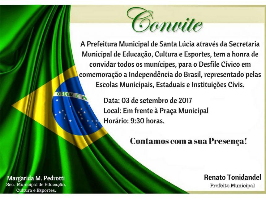 Desfile Cívico em comemoração a Independência do Brasil!