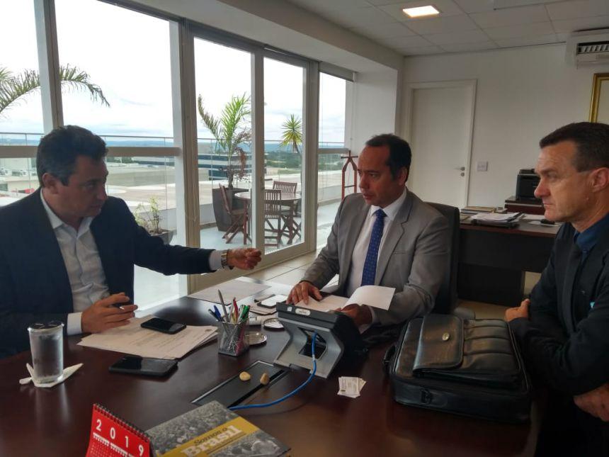 Audiência com o Ministro dos Esportes Sr. Leandro Cruz Fróes da Silva e Deputado Federal Sérgio Souza!