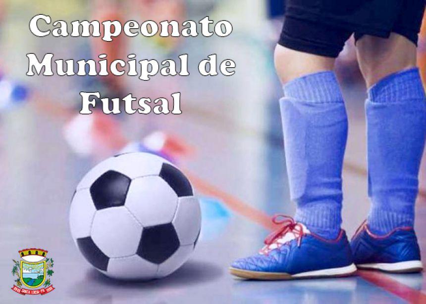Programação da final do Campeonato Municipal de Futsal nas categorias masculino juvenil e feminino