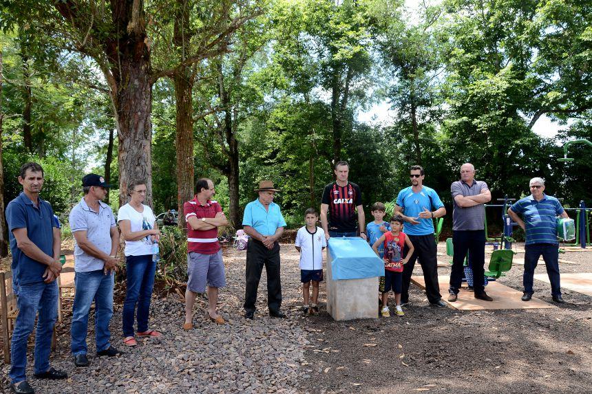 Inauguração da Academia ao ar livre na linha São Pedro!