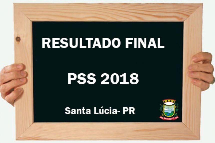 Resultado Final PSS 2018
