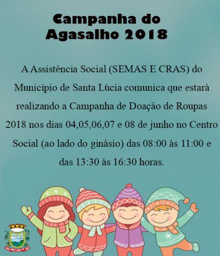Campanha do Agasalho 2018!