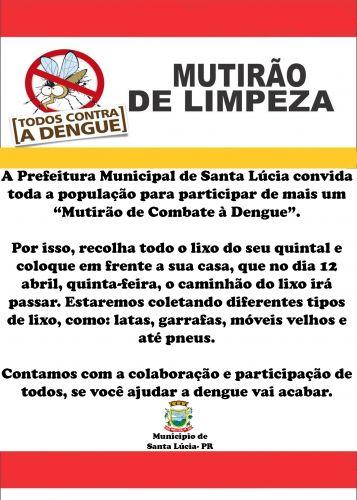Mutirão Contra a Dengue!