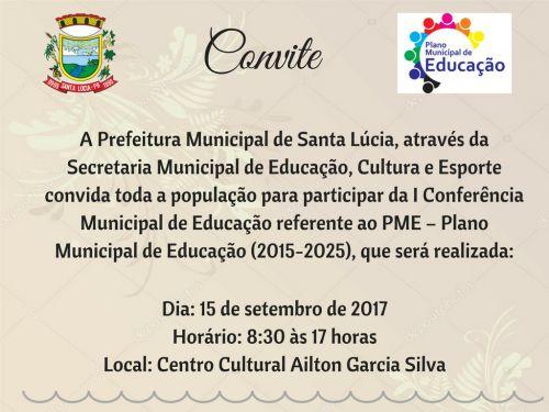 Conferência Municipal de Educação!