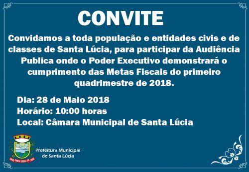 Convite para Audiência Pública do Poder Executivo!