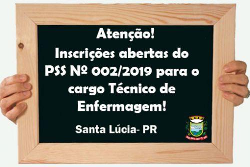 Edital do PSS Nº 002/2019