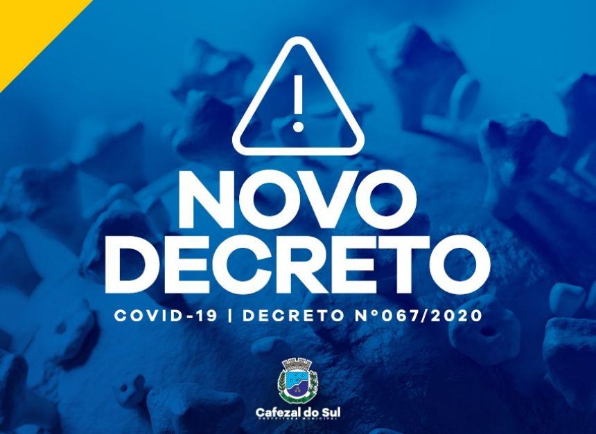 NOVO DECRETO NÚMERO 067/2020