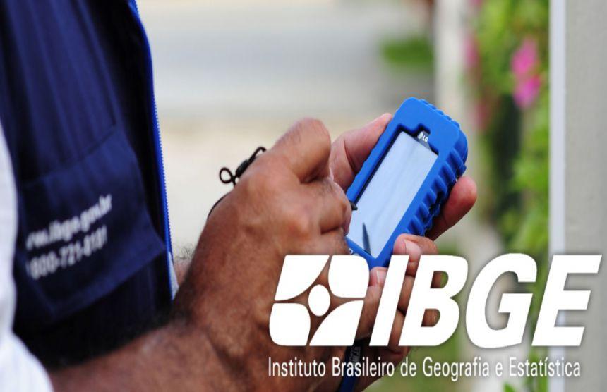 Atenção - 2 vagas para Recenseador do IBGE, de Nível Fundamental em Cafezal do Sul.