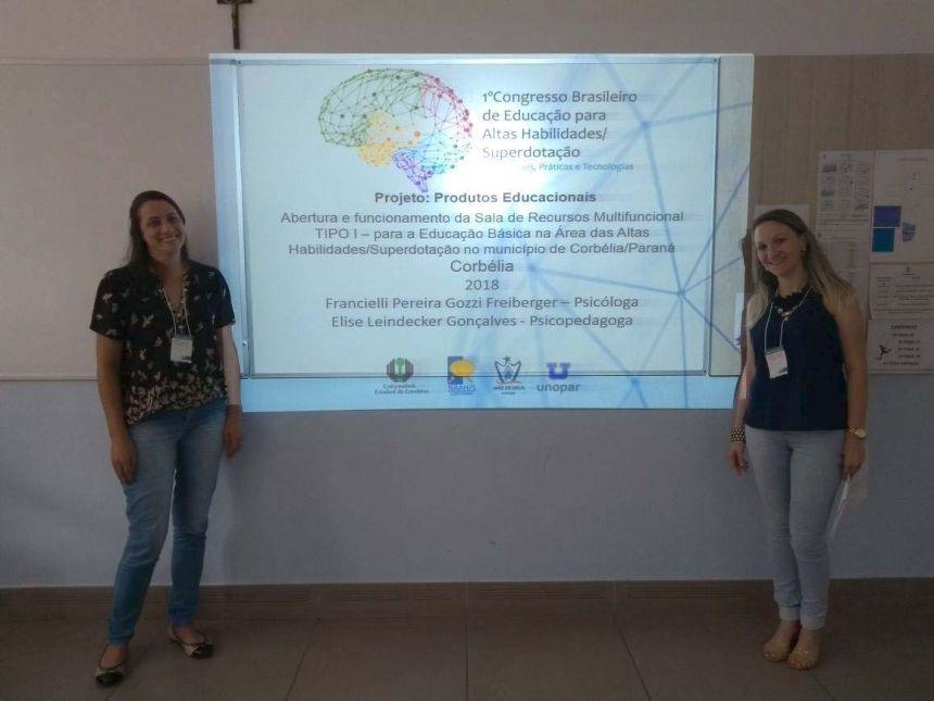 Corbelienses apresentam trabalho no 1º Congresso Brasileiro de Educação para altas habilidades