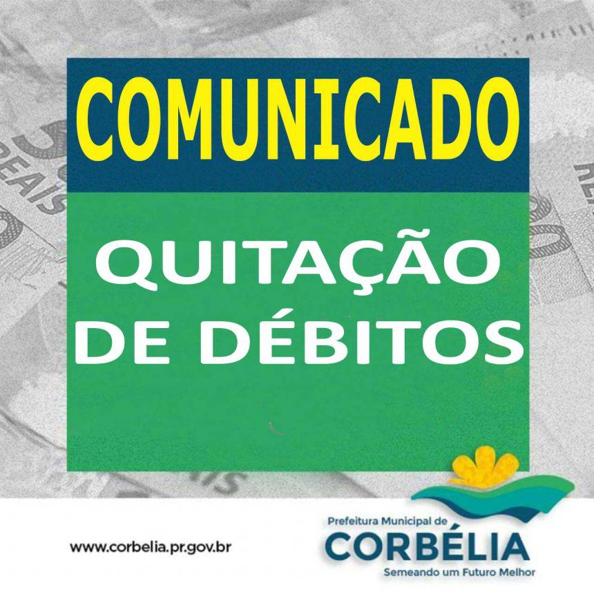 Comunicado aos contribuintes que possuem débitos inscritos em Dívida Ativa junto a Fazenda Municipal