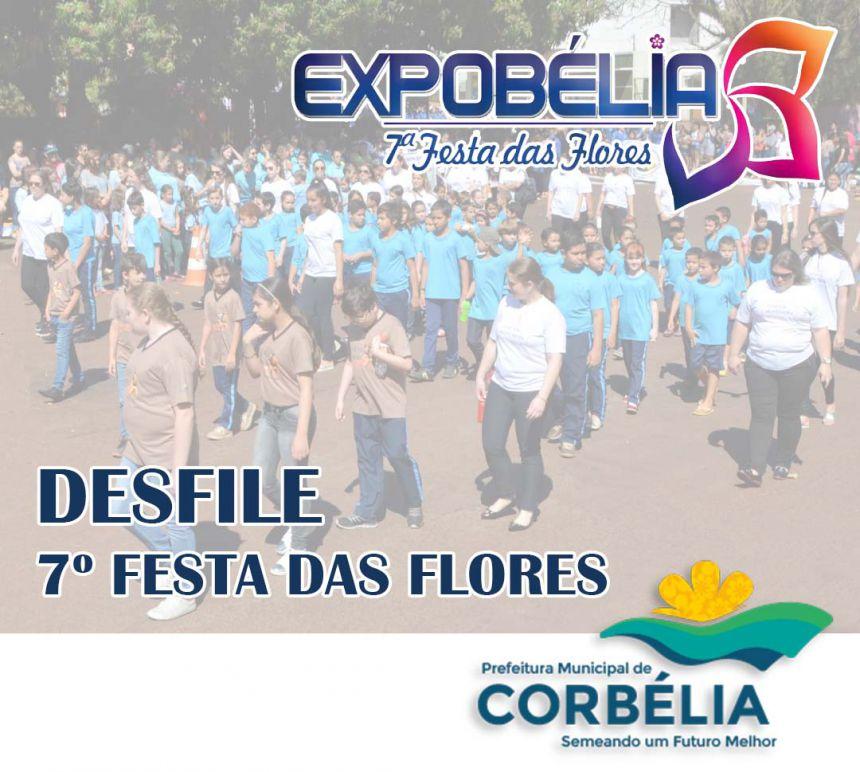 Convite Desfile Festa das Flores
