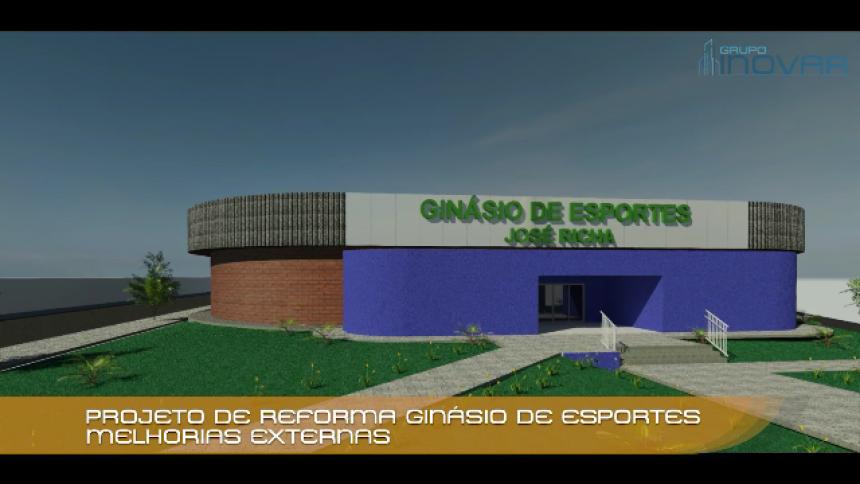 Projeto de reforma do Ginásio de Esportes senador José Richa