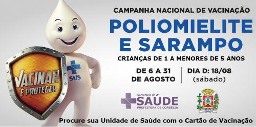 Campanha Nacional de Vacinação contra Sarampo e Poliomielite