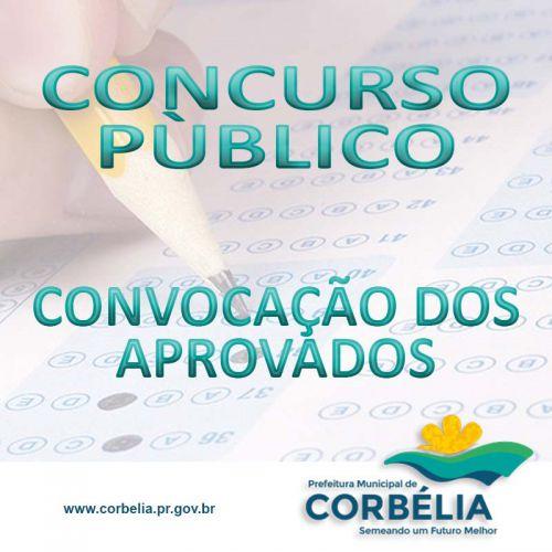 Convocação dos aprovados no Concurso Público 003/067/2018