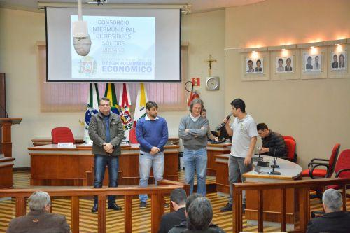 Audiência pública sobre inclusão do mucinípio de Corbélia no Consórcio Intermunicipal de Resíduos Sólidos Urbanos.