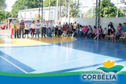 Inauguração da Iluminação da quadra de esportes da Escola Anita Garibaldi