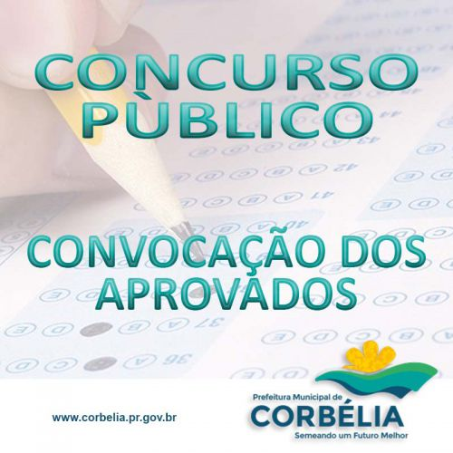 Convocação dos aprovados no Concurso Público 003/068/2018