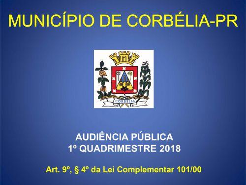 Audiência Pública 1º Quadrimestre 2018