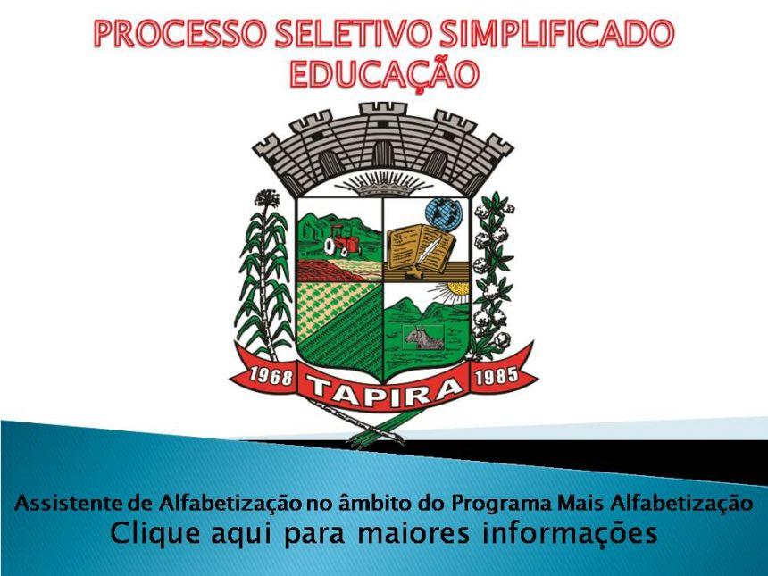 Processo Seletivo para Assistente de Alfabetização no âmbito do Programa Mais Alfabetização