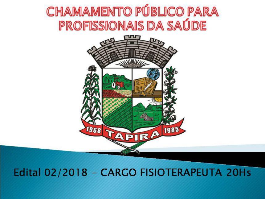 EDITAL DE CHAMAMENTO Nº 02/2018 PARA CREDENCIAMENTO DE PROFISSIONAIS DA SAÚDE