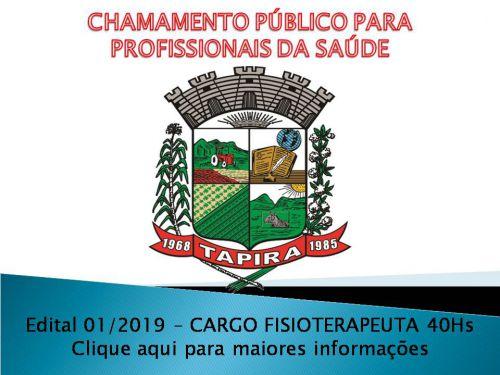 EDITAL DE CHAMAMENTO Nº 01/2019 PARA CREDENCIAMENTO DE PROFISSIONAIS DA SAÚDE