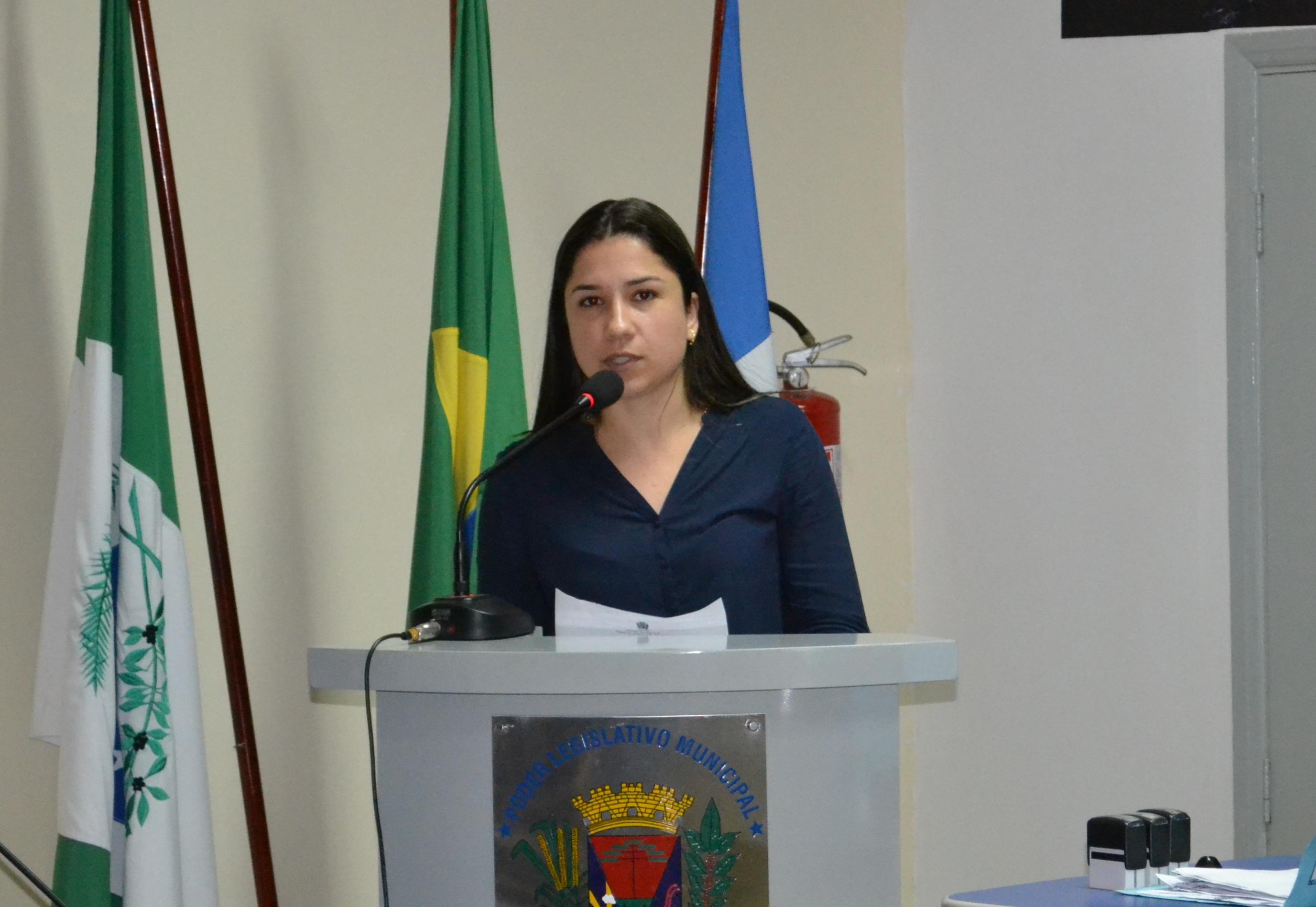 Vereadora Marcela Carvalho Rodrigues, autora do projeto
