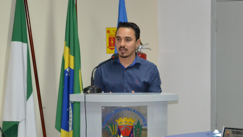 Vereador Édi Willian, autor da propositura