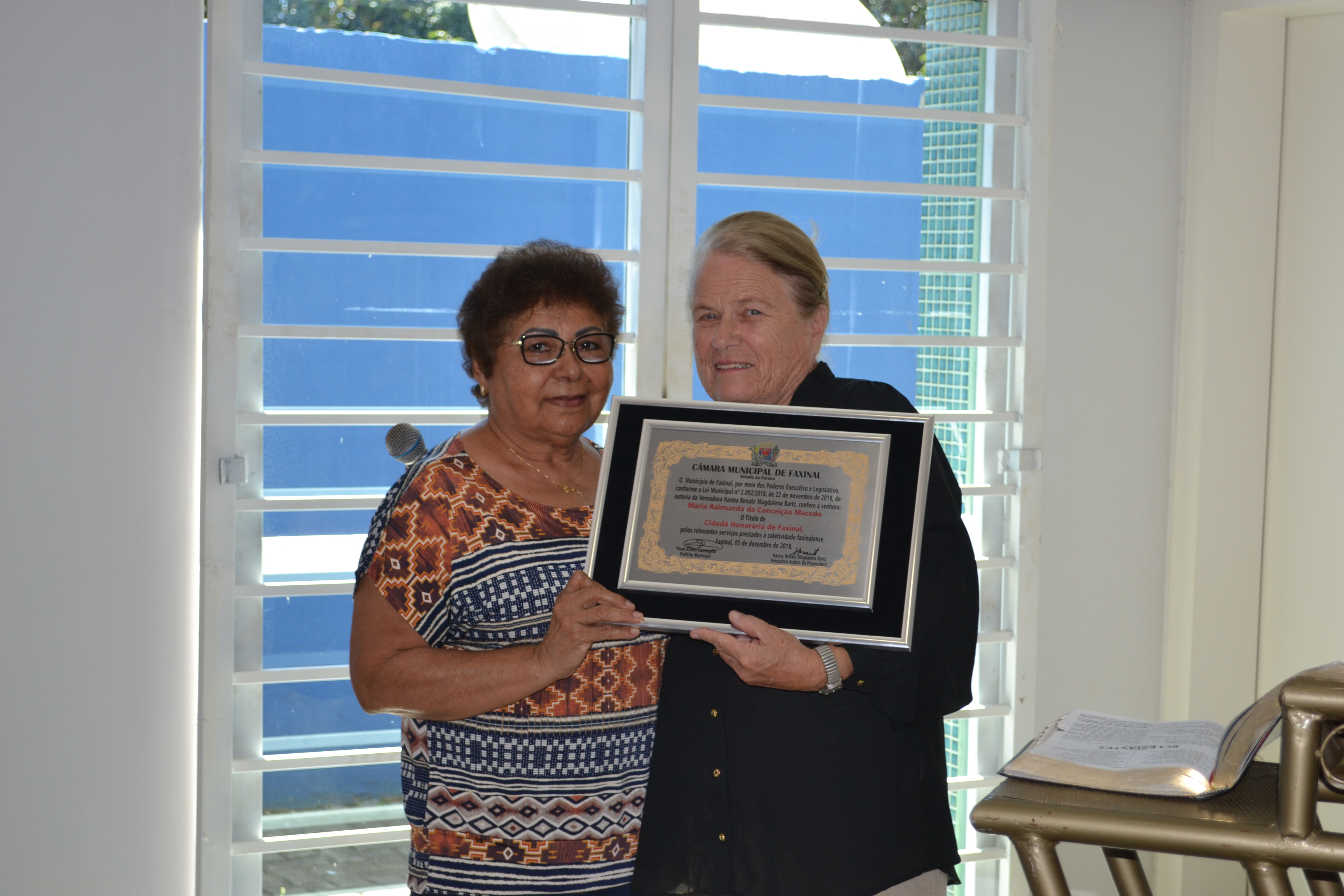 Maria Raimunda recebe Título de Cidadã Honorária de Faxinal