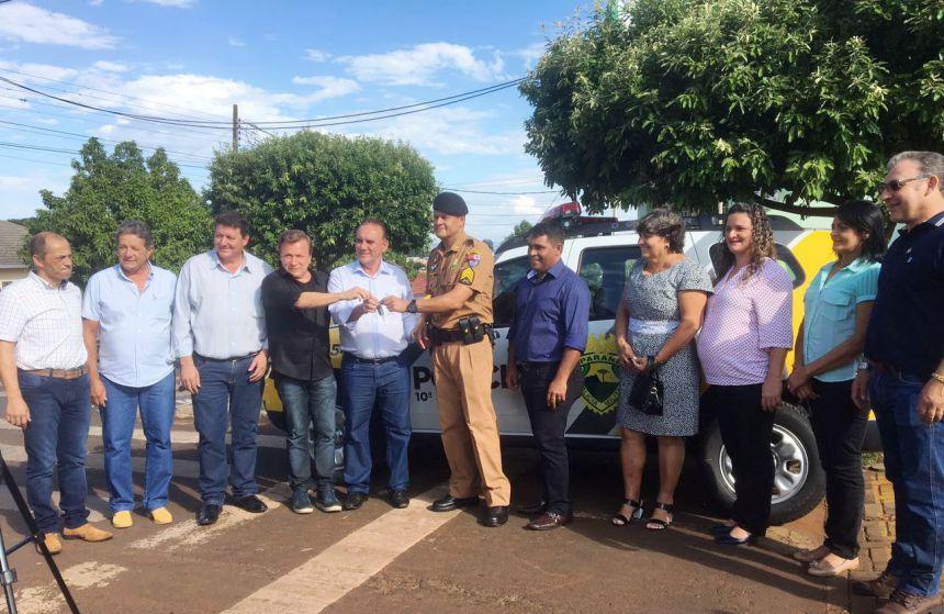 Vereadores, Prefeito E Vice-Prefeito Recebem Viatura Para Para O Destacamento Da Policia Militar De São Pedro Do Ivaí