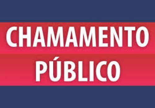 CHAMAMENTO PÚBLICO - 001-2018