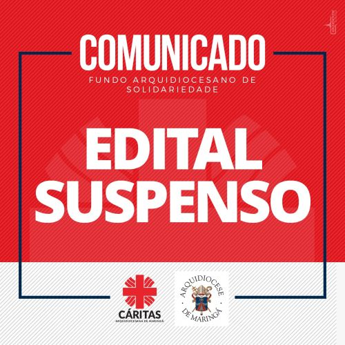 Edital do FAS 2020 SUSPENSO