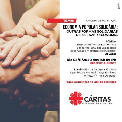 Oficina de Formação - Economia Popular Solidária: Outras formas solidárias de se fazer economia.
