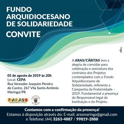 Projetos contemplados com o Fundo Arquidiocesano de Solidariedade - CF 2019