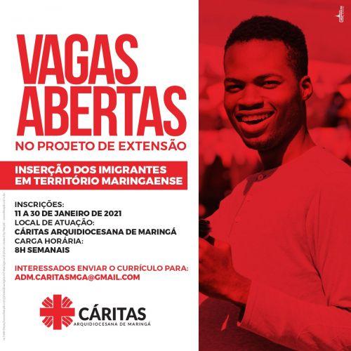 VAGAS ABERTAS - Trabalho Voluntario