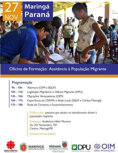 Oficina de Formação - Assistência a População Migrante