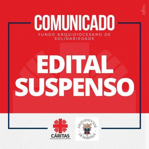 Edital FAS 2021 SUSPENSO