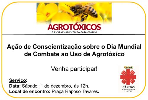 Ação de Conscientização sobre o Dia Mundial de Combate ao Uso de Agrotóxico